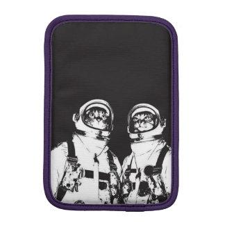cat astronaut - black and white cat - cat memes iPad mini sleeves
