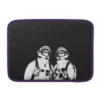 cat astronaut - black and white cat - cat memes MacBook sleeve