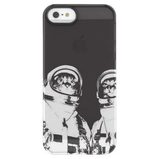 cat astronaut - black and white cat - cat memes permafrost® iPhone SE/5/5s case