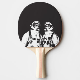 cat astronaut - black and white cat - cat memes ping pong paddle