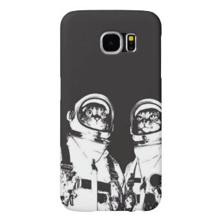 cat astronaut - black and white cat - cat memes samsung galaxy s6 case