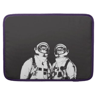 cat astronaut - black and white cat - cat memes sleeve for MacBook pro