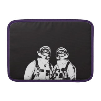 cat astronaut - black and white cat - cat memes sleeves for MacBook air