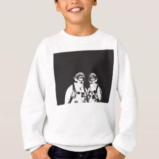 cat astronaut - black and white cat - cat memes sweatshirt