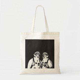 cat astronaut - black and white cat - cat memes tote bag