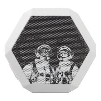 cat astronaut - black and white cat - cat memes white bluetooth speaker
