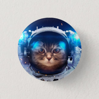 Cat astronaut - cats in space  - cat space 1 inch round button