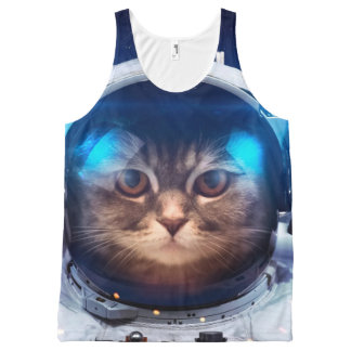 Cat astronaut - cats in space  - cat space All-Over-Print tank top
