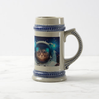 Cat astronaut - cats in space  - cat space beer stein