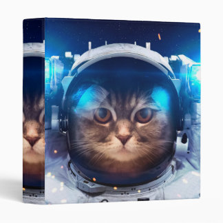 Cat astronaut - cats in space  - cat space binder