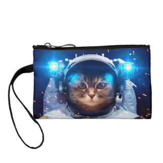 Cat astronaut - cats in space  - cat space coin purse