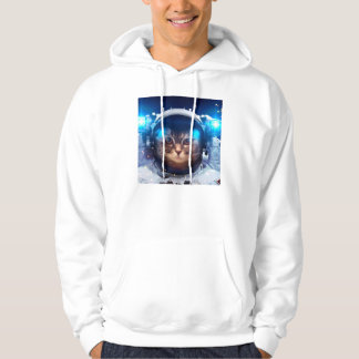 Cat astronaut - cats in space  - cat space hoodie