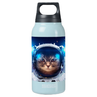 Cat astronaut - cats in space  - cat space insulated water bottle