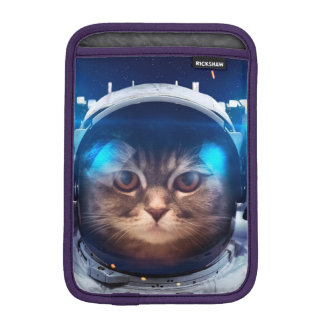 Cat astronaut - cats in space  - cat space iPad mini sleeve