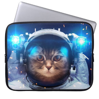Cat astronaut - cats in space  - cat space laptop sleeve