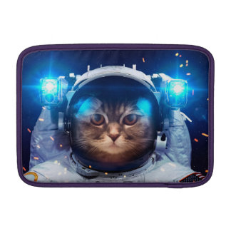 Cat astronaut - cats in space  - cat space sleeve for MacBook air