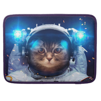 Cat astronaut - cats in space  - cat space sleeve for MacBooks