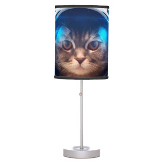 Cat astronaut - cats in space  - cat space table lamp