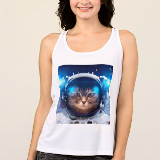 Cat astronaut - cats in space  - cat space tank top
