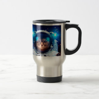 Cat astronaut - cats in space  - cat space travel mug