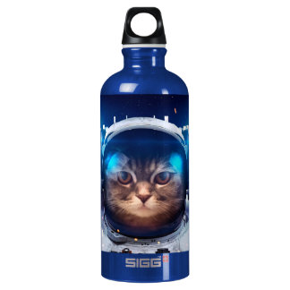 Cat astronaut - cats in space  - cat space water bottle