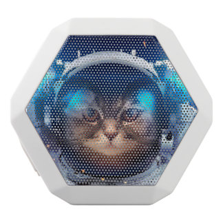 Cat astronaut - cats in space  - cat space white bluetooth speaker
