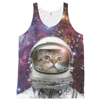 Cat astronaut - crazy cat - cat All-Over-Print tank top
