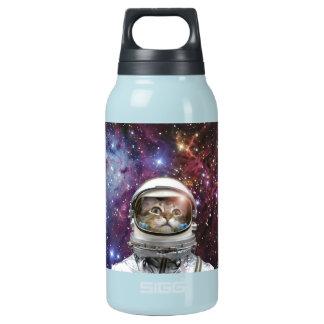 Cat astronaut - crazy cat - cat insulated water bottle