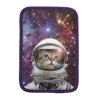 Cat astronaut - crazy cat - cat iPad mini sleeve