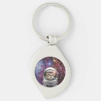 Cat astronaut - crazy cat - cat keychain
