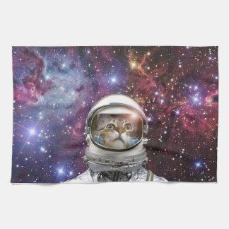Cat astronaut - crazy cat - cat kitchen towel