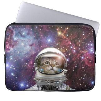 Cat astronaut - crazy cat - cat laptop sleeve