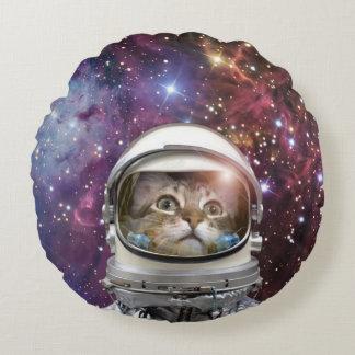 Cat astronaut - crazy cat - cat round pillow