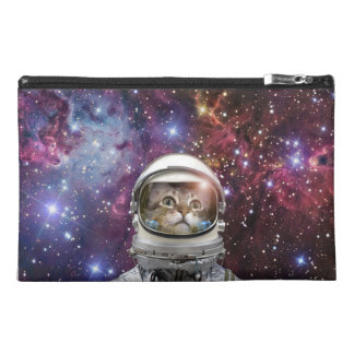 Cat astronaut - crazy cat - cat travel accessory bag