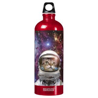Cat astronaut - crazy cat - cat water bottle