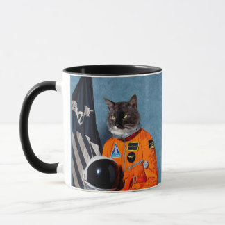 cat astronaut - funny cats - black cat mug