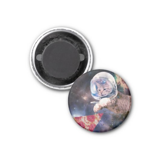 cat astronaut - funny cats - cats in space 1 inch round magnet