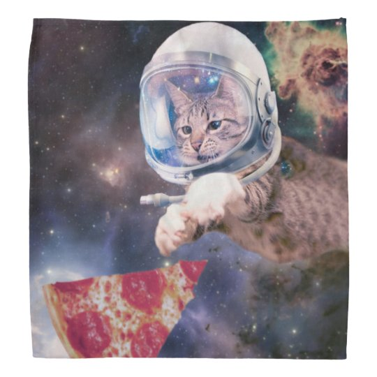 cat astronaut - funny cats - cats in space bandanna