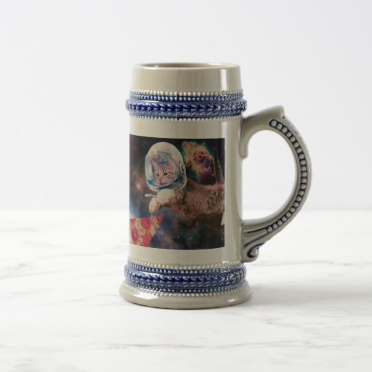 cat astronaut - funny cats - cats in space beer stein