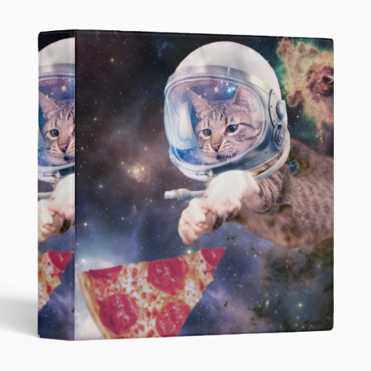 cat astronaut - funny cats - cats in space binder