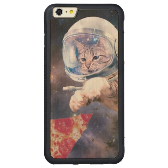 cat astronaut - funny cats - cats in space carved maple iPhone 6 plus bumper case
