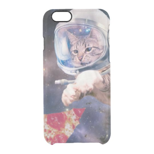 cat astronaut - funny cats - cats in space clear iPhone 6/6S case