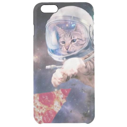 cat astronaut - funny cats - cats in space clear iPhone 6 plus case