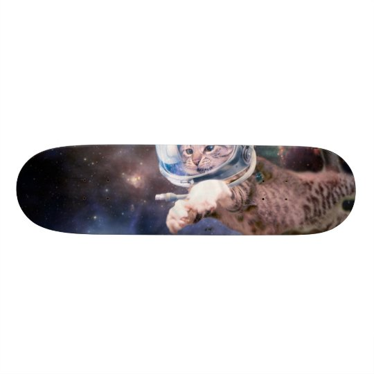 cat astronaut - funny cats - cats in space custom skate board