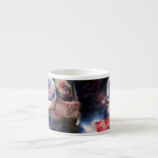 cat astronaut - funny cats - cats in space espresso cup
