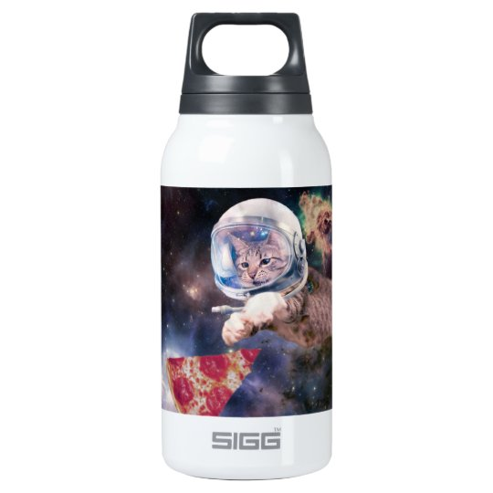 cat astronaut - funny cats - cats in space insulated water bottle