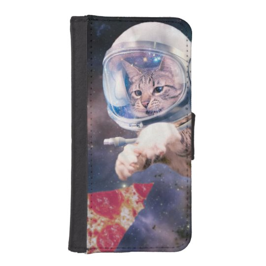 cat astronaut - funny cats - cats in space iPhone 5 wallet