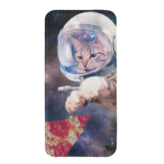 cat astronaut - funny cats - cats in space iPhone pouch