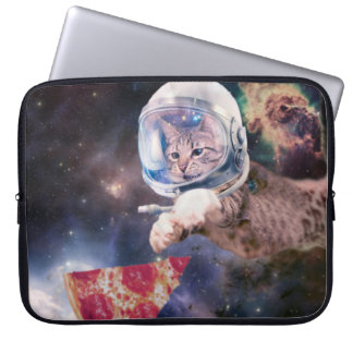 cat astronaut - funny cats - cats in space laptop sleeve