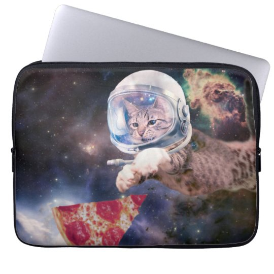 cat astronaut - funny cats - cats in space laptop sleeves